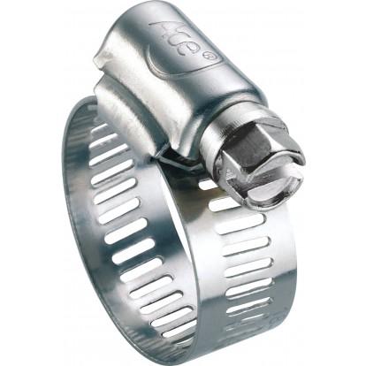 Collier à bande perforée W2 largeur bande 13 mm Ace - Diamètre 47 - 67 mm - Vendu par 10