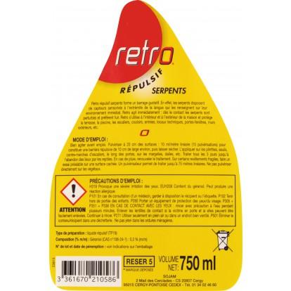 Répulsif serpents Retro - Pulvérisateur 500 ml