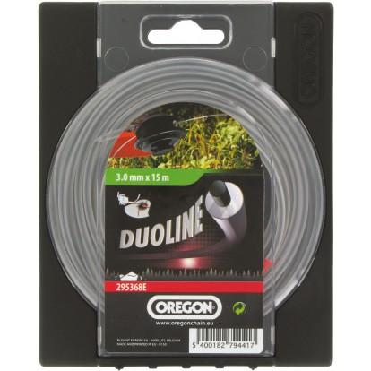 Fil pour débroussaillage Duoline rond Oregon - Longueur 15 m - Diamètre 3 mm