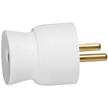 Fiches plastique 2P+T 16 A Legrand - Mâle - Sortie du câble par l'arrière