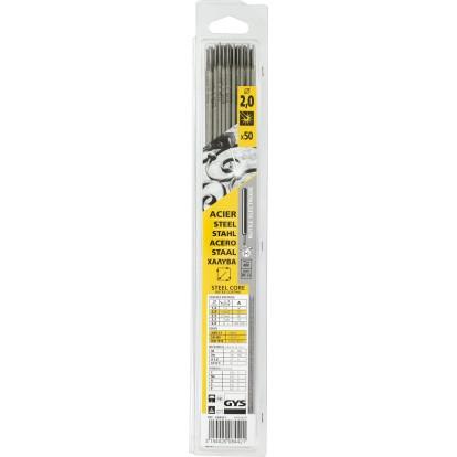 Electrode traditionnelle acier rutile Gys - Diamètre 2 mm - Vendu par 50