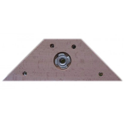 Equerre fixation bois pied de lit - Longueur 175 mm - Largeur 55 mm