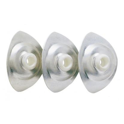 Plaquette ovale pour plaque translucide - Longueur 40 mm - Largeur 28 mm - Epaisseur 6 mm - Vendu par 100