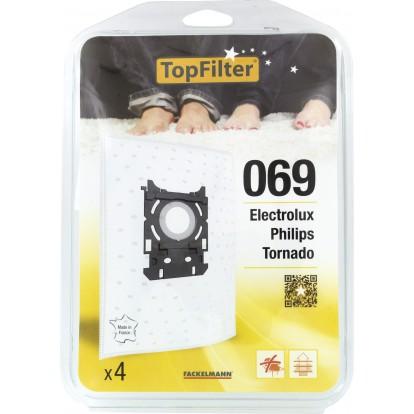 Sac aspirateur domestiques - Philips S-bag - 069 - Vendu par 4