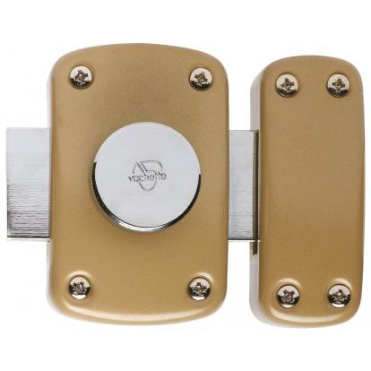 Verrou à bouton intérieur sans cylindre série Cyclop Vachette - Verni