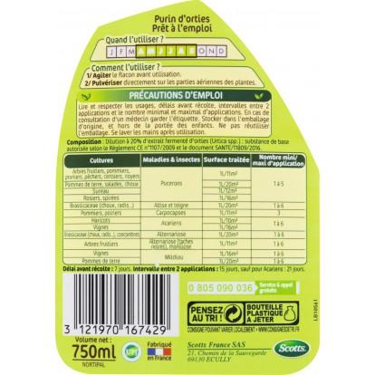 Purin d'orties prêt à l'emploi Naturen - Pulvérisateur 750 ml