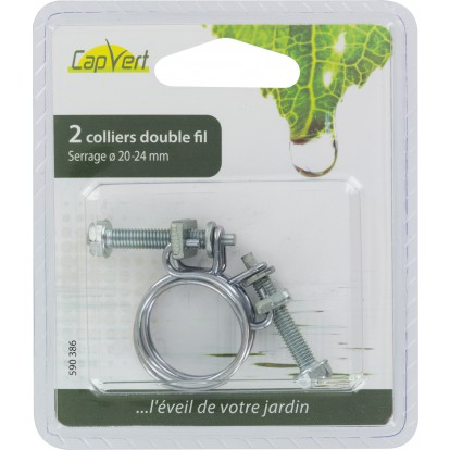 Collier double-fil Cap Vert - Diamètre 20 - 23 mm - Vendu par 2