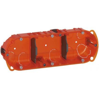 Boîte multimatériaux Legrand - 3 postes - Profondeur 40 mm