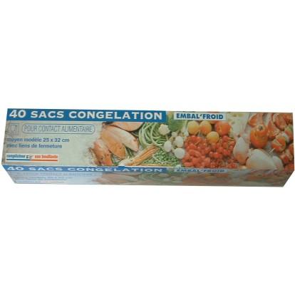 Sac congélation Embal'Froid - Longueur 22 cm - Largeur 35 cm - Vendu par 40