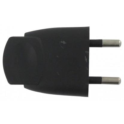 Fiche plastique 2P-6 A Dhome - Mâle - Noir