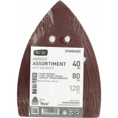 Patin auto-agrippant Iron Mouse® SCID - Grain 40, 80, 120 - Vendu par 10