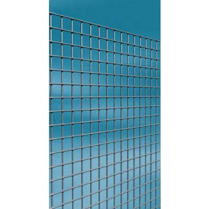 Grillage maille carrée galvanisé Cavatorta - Longueur 2,5 m - Hauteur 1 m - Maille 13 mm