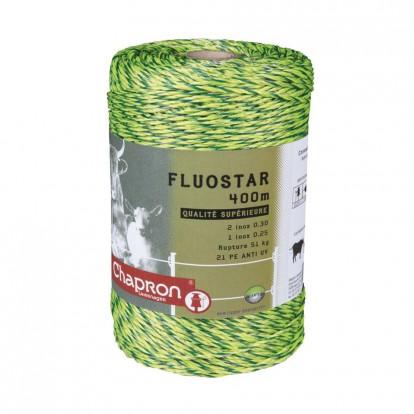 Fil inox Fluostar Chapron Lemenager - Fluo jaune et vert - Diamètre 0,3 à 0,25 mm - Longueur 200 m