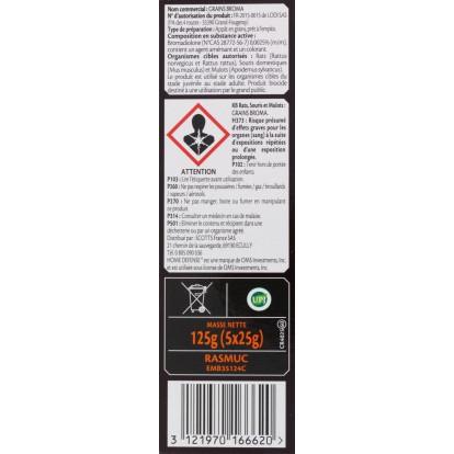 Raticide souricide céréales prêt à l'emploi KB Home défense - 5 sachets de 25 g