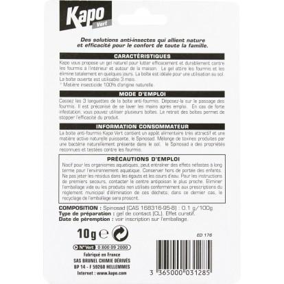 Fourmis piège Kapo Vert - Boîte appât 10 g