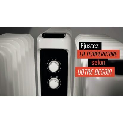Radiateur bain d'huile Ingarø Varma - 1500 W - Blanc