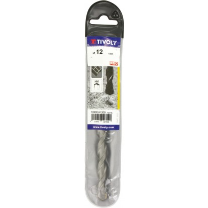 Foret à béton usage fréquent pro Tivoly - Longueur 150 mm - Diamètre 12 mm - Vendu par 1