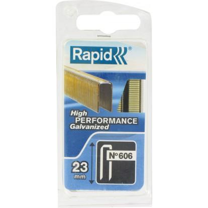 Agrafe n°606 Rapid Agraf - Hauteur 23 mm - 600 agrafes