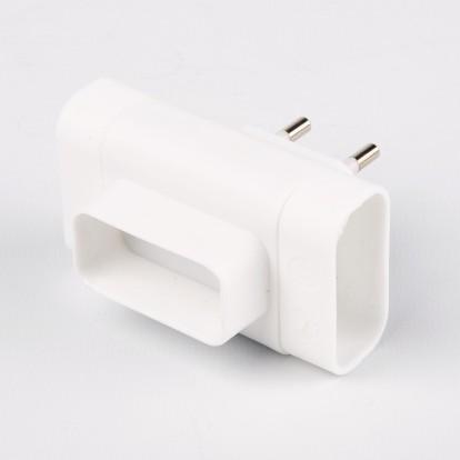 Fiche triplite latérale 3 x 2P Dhome - Blanc