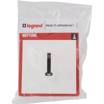 Prise téléphone en T Legrand - Neptune - Blanc