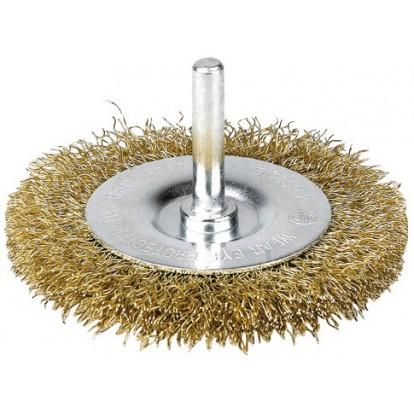 Brosse circulaire acier laitonné ondulé SCID - Diamètre 38 mm