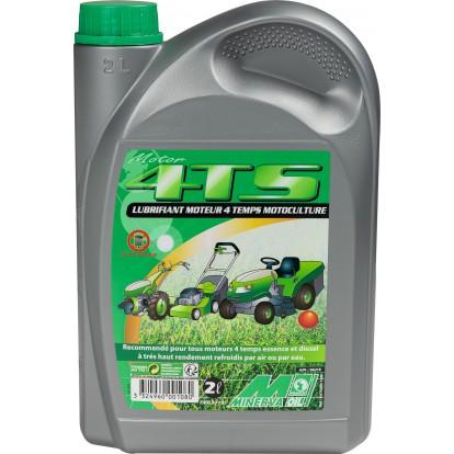 Lubrifiant moteur 4 temps essence et diesel motoculture Minerva - 2 l