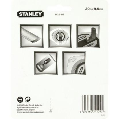 Ruban acier long tape Stanley - Longueur 20 m - Largeur 9,5 mm