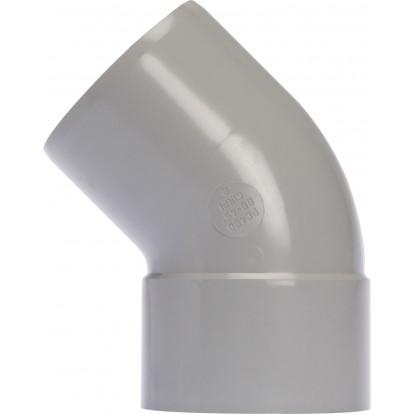 Coude diamètre 80 Mâle / Femelle Girpi - 45° - Gris