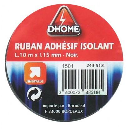 Ruban adhésif isolant Dhome - Noir