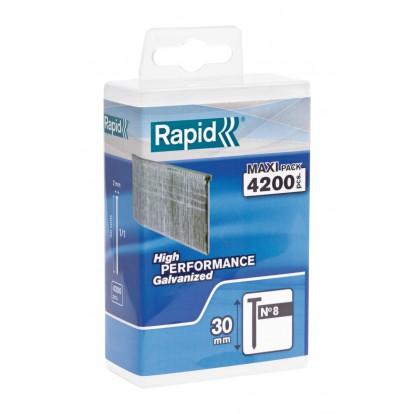 Pointe n°8 Rapid Agraf - Hauteur 30 mm - 4200 pointes