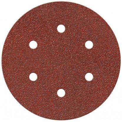 Disque auto-agrippant SCID - 6 trous - Grain 80 - Diamètre 150 mm - Vendu par 5