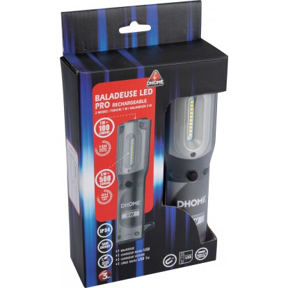 Baladeuse LED rechargeable Pro