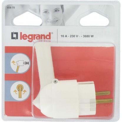 Fiche plastique extraction facilitée 2P+T 10/16 A Legrand - Mâle - Blanc