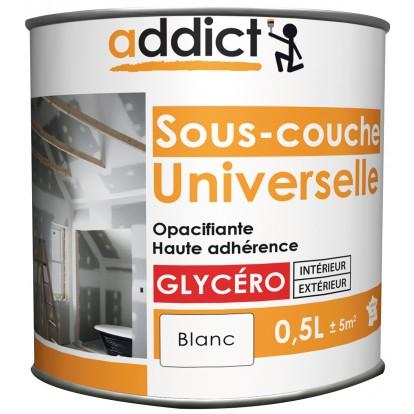 Peinture Sous Couche Universelle Addict   Boîte 0,5 L   Blanc De Peinture  Sous Couche