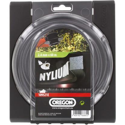 Fil carré pour débroussaillage nylon Oregon - Longueur 60 m - Diamètre 2,4 mm