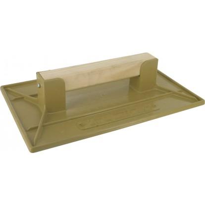 Taloche plastique ABS jaune rectangulaire Outibat - Dimensions 26 x 42 cm