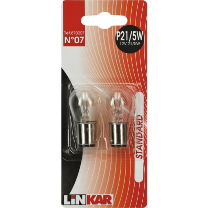 Ampoule automobile pour feu stop Linkar - P21 - 12 V - 5 W - Vendu par 2