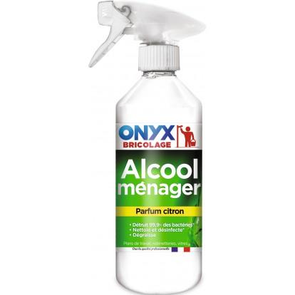 Alcool ménager parfume 90° Onyx - Pulvérisateur 500 ml