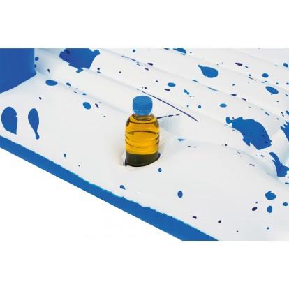 Bouée matelas de plage Lounge Cool Blue Bestway - Longueur 161 cm - Largeur 84 cm