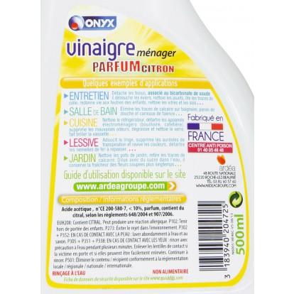 Vinaigre ménager Onyx - Citron - Pulvérisateur 500 ml