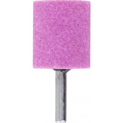 Meule sur tige au corindon rose SCID - Cylindrique - Diamètre 30 mm - Hauteur 35 mm