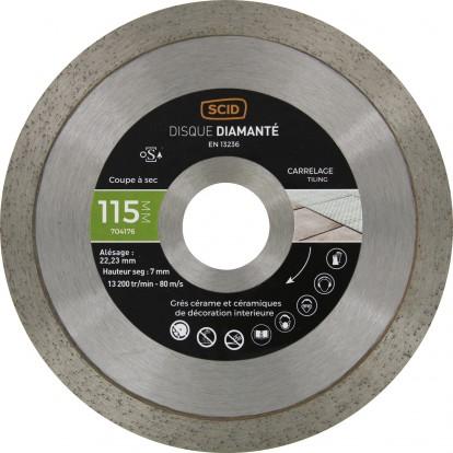 Disque diamanté carreleur expert SCID - Diamètre 115 mm