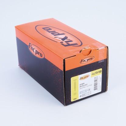 Vis à bois tête fraisée PZ - 4x70 - 250pces - Fixpro