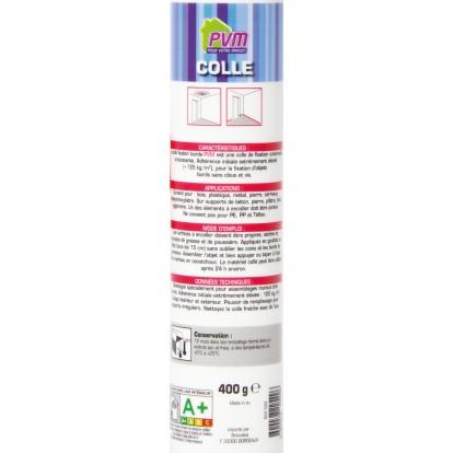 Mastic fixation lourde PVM - Blanc