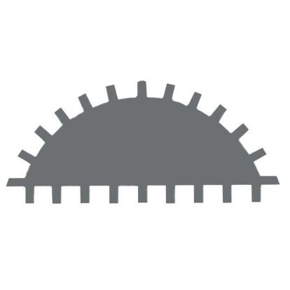 Lime d'atelier demi-ronde manche bi-matière Mob - Bâtarde - Longueur 200 mm