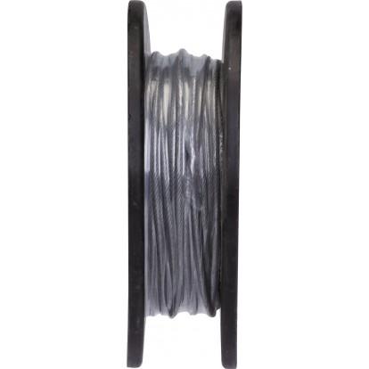 Câble acier gainé PVC Chapuis - Bobine de 50 m - Diamètre Câble 2,5 mm - Extérieur 3,5 mm