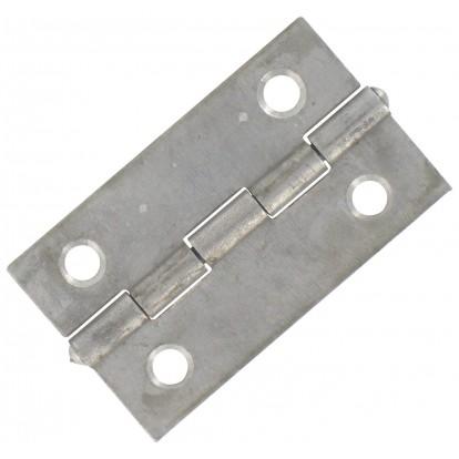 Charnière carrée simple feuille Jardinier Massard - Acier décapé - Hauteur 40 mm - Largeur 40 mm