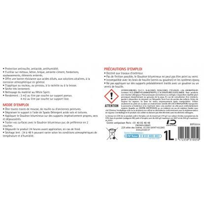 Goudron bitumeux Spado - Bidon 1 l
