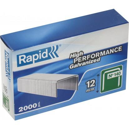 Agrafe n°140 Rapid Agraf - Hauteur 12 mm - 2000 agrafes