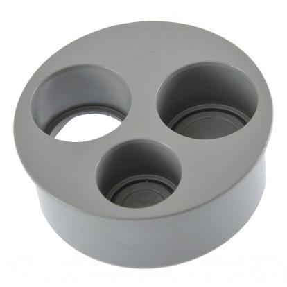 Tampon de réduction operculé 3 piquages Mâle / Femelle Girpi - Diamètre 100 - 40 - 40 - 32 mm
